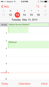 Keep your own workout appointments!
